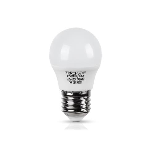 5W A15 LED Light Bulb, 5000K Daylight