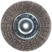 "Forney Industries 72745 Crimp Wire Wheel Brush, 6"" x 1/2""-5/8"""