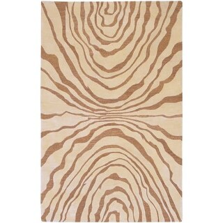 Surya SR113-3353 Studio 3' x 5' Rectangle Wool Hand Tufted Contemporary Area Rug - Beige