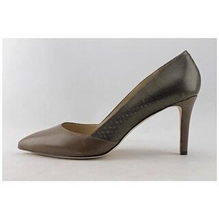 Carolinna Espinosa Womens Socialite Leather Pointed Toe Classic Pumps