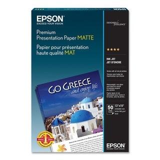 Epson Premium Presentation Paper - Matte (13x19 Inches, 50 Sheets) (S041263)