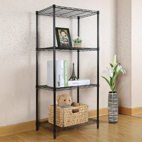 4-Wire Shelving Metal Storage Rack for Bathroom,Kitchen,Laundry