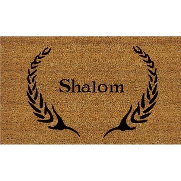 Home & More 12084 Coir and Vinyl Shalom Doormat