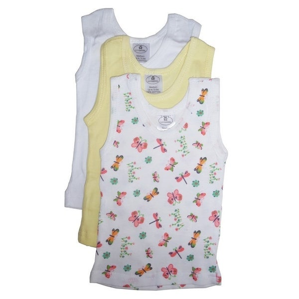182503c9c23c0d Shop Bambini Baby Girls Multi Color Variety Print Cotton 3-Pack Tank Tops -  Free Shipping On Orders Over  45 - Overstock - 23089518