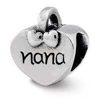 Sterling Silver Reflections Nana Heart Bead (4mm Diameter Hole)