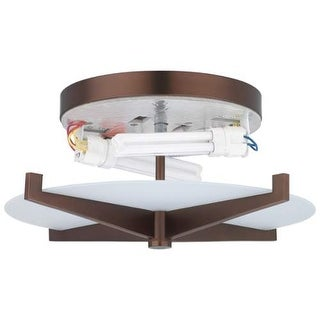 Forecast Lighting FB185570U A La Carte 2 Light Flush Mount Ceiling Fixture from the Fisher Island Collection - Base Only