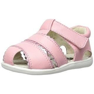 See Kai Run Girls Fisherman Sandals Ruffled Leather - 4 medium (b,m) toddler