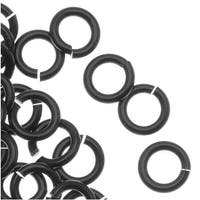 Artistic Wire, Chain Maille Jump Rings, 18 Ga / ID 3.57mm / 160pc, Black Color