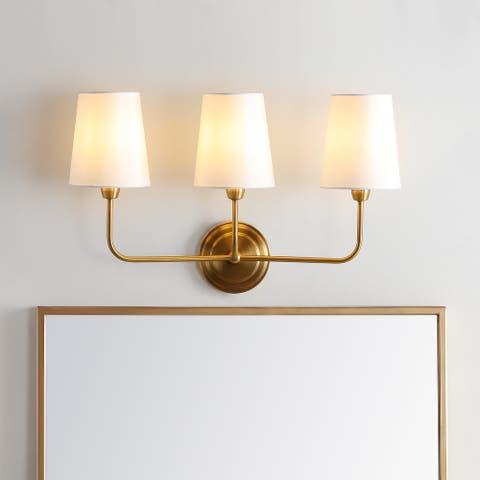 "SAFAVIEH Lighting Sawyer 3-light Brass LED Wall Sconce - 21.5""x7""x13.8"""