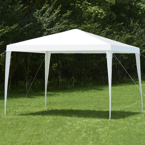 Costway Wedding Party Event Tent Outdoor Canopy 10 X10 Gazebo Pavilion Cater Heavy Duty