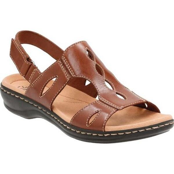 Shop Clarks Women's Leisa Lakelyn - Cutout Slingback Tan Leather - Lakelyn - 14201473 5e4230
