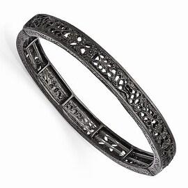 Black IP Downton Abbey Filigree Stretch Bracelet
