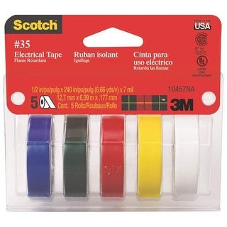 3M 10457 Electrical Tape, Assorted Colors