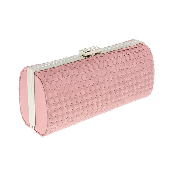 Scheilan Rose Fabric Weave Box Clutch/Shoulder Bag - 7.5-3.5-2