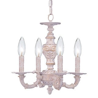 Link to Paris Market 4 Light Antique White Mini Chandelier - 13.5'' W x 14'' H Similar Items in Chandeliers