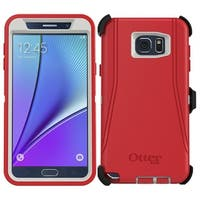 OtterBox Defender Series Case for Samsung Galaxy Note 5 and Holster White Red