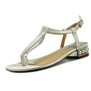Betsey Johnson Evie Women  Open Toe Canvas Ivory Sandals