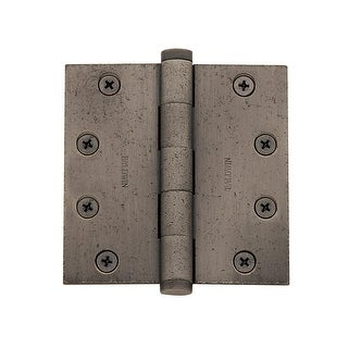 "Baldwin 1046.I 4.5"" x 4.5"" Solid Brass Square Corner Ball Bearing Mortise Hinge - Single Hinge"