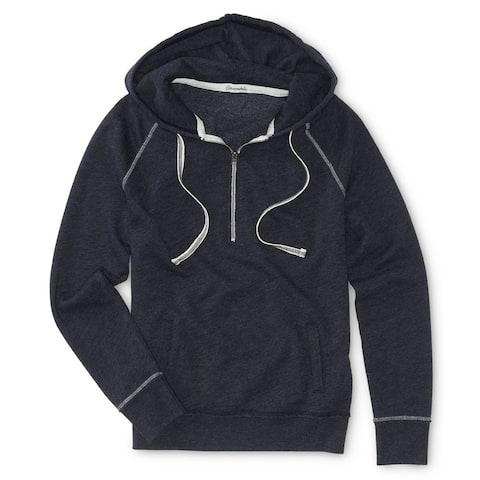 Aeropostale Womens Neon Quarter Zip Hoodie Sweatshirt