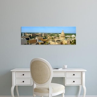 Easy Art Prints Panoramic Images's 'State Capitol, Austin, Texas' Premium Canvas Art