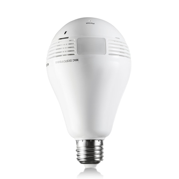 Panoramic Light Bulb Wi-Fi 960P Hd Night-Vision Hidden Camera With Motion Activated Email Alerts