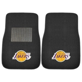 "NBA - Los Angeles Lakers 2-piece Embroidered Car Mats 18""x27"""