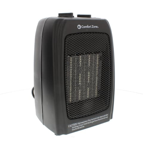 Comfort Zone CZ442 1500 Watt Ceramic Electric Portable Heater, Black