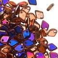 Czech Glass, Dragon Scale Beads 1.5x5mm, 9.5 Gram Tube, Crystal Sliperit - Thumbnail 0