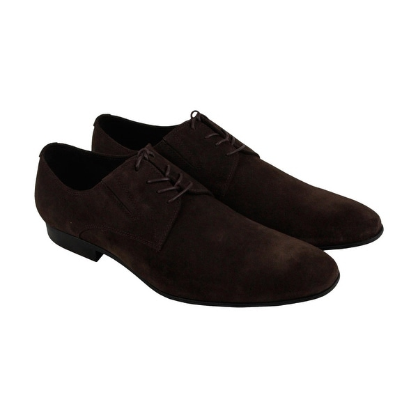 Kenneth Cole New York Mix Er Mens Brown Suede Casual Dress Oxfords Shoes