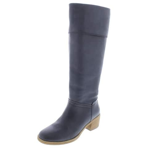 Ugg Womens Carlin Knee-High Boots Leather Fashion