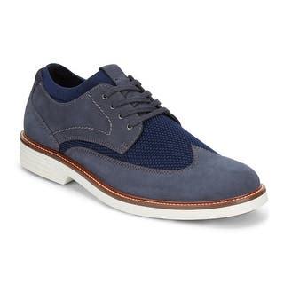 3e0f2e84f88 Dockers Mens Paigeland Knit Leather Dress Casual Wingtip Oxford Shoe with  NeverWet