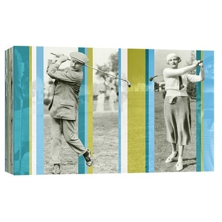 """PTM Images 9-102222  PTM Canvas Collection 8"""" x 10"""" - """"Vintage Golf"""" Giclee Golf Art Print on Canvas"""