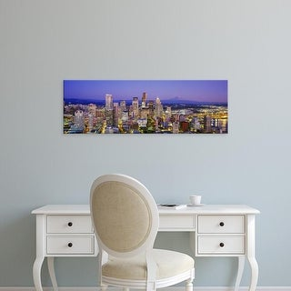 Easy Art Prints Panoramic Images's 'Seattle, Washington State, USA' Premium Canvas Art