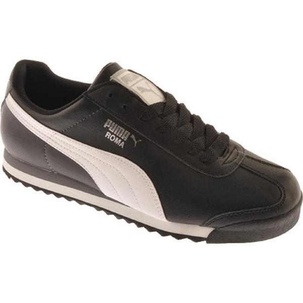 new concept 24c26 98411 PUMA Men  x27 s Roma Basic Black White Puma Silver