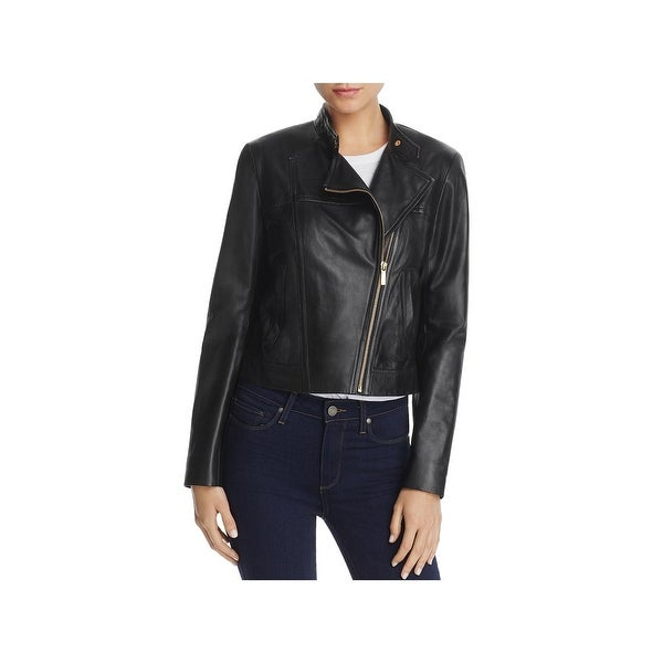 128debe2cbac Shop MICHAEL Michael Kors Womens Motorcycle Jacket Spring Leather ...
