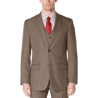 Perry Ellis Mens Double-Breasted Suit Jacket Woven