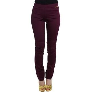 Galliano Galliano Purple slim fit pants - it40-s