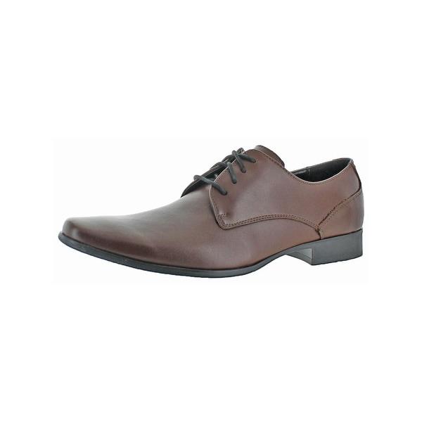 Calvin Klein Mens Brodie Oxfords Leather Plain Toe