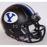 BYU Black Matte Riddell Speed Mini Football Helmet