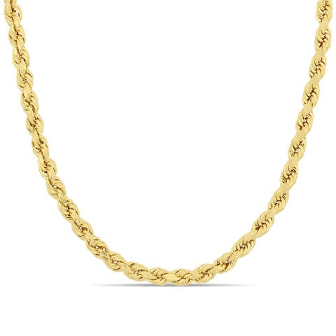 Miadora 14k Yellow Gold 20 Inch Rope Chain Necklace
