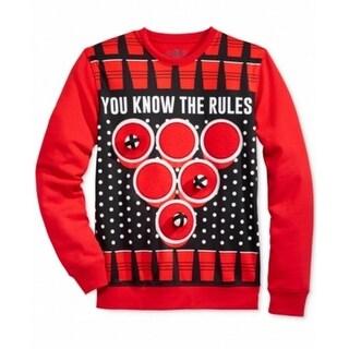 American Rag CIE NEW Red Mens Size Medium M Holiday Crewneck Sweater