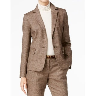 Weekend MaxMara NEW Brown Womens Size 14 Two-Button Oxford Blazer