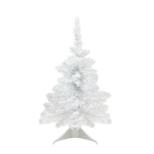 18 x 13 white glimmer iridescent spruce artificial christmas tree unlit - Iridescent Christmas Tree Decorations