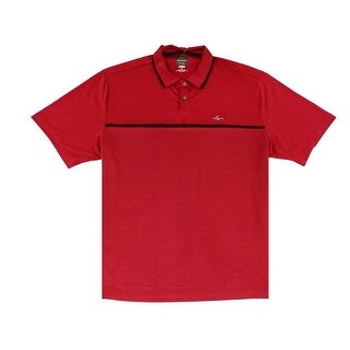 Greg Norman NEW Red Mens Size XL Play Dry Stripe Polo Rugby Shirt