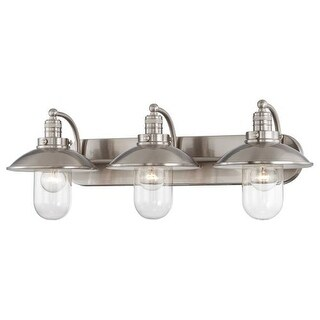 Minka Lavery 5133 3 Light Bathroom Vanity Light with Clear Shade from the Downtown Edison Collection