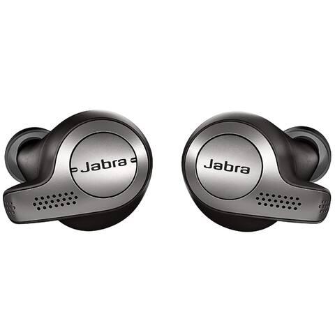 Jabra Elite 65T True Wireless Earbuds w/Charging Case, Titanium Black (Refurbished)