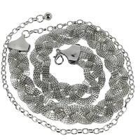 CTM® Women's Woven Chain Belt - one size