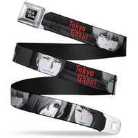 Tokyo Ghoul Full Color Black White Tokyo Ghoul 4 Character Faces Close Up Seatbelt Belt