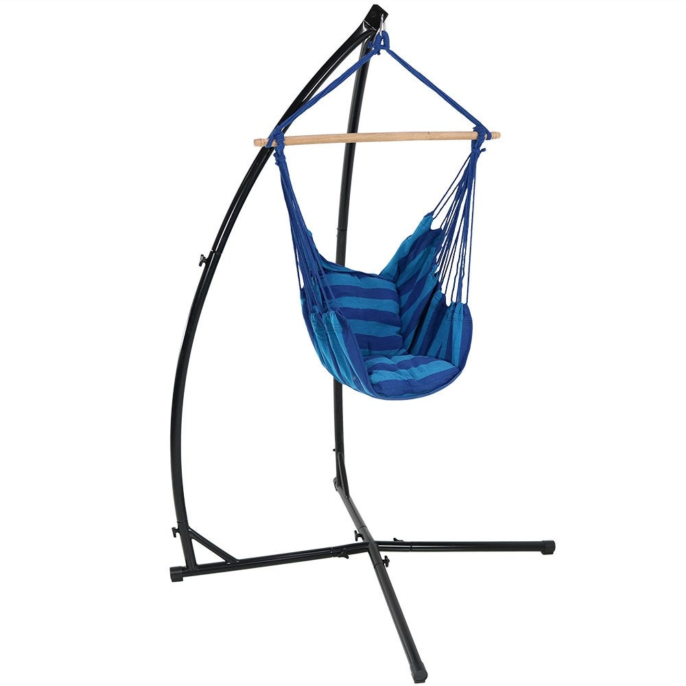 hangstoel hammock made chair arc larch wood of hanging rocker stand