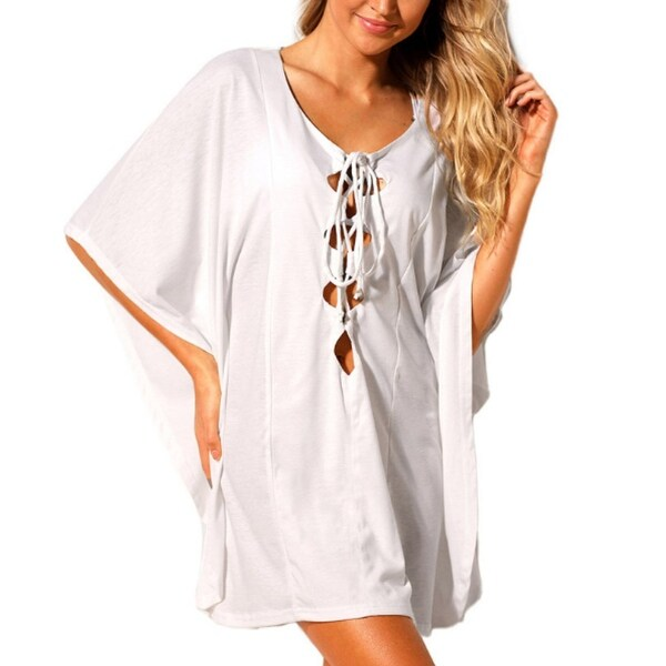 c7aebbc21d Shop Women Chiffon Tassel Swimsuit Bikini Stylish Beach Cover up ...